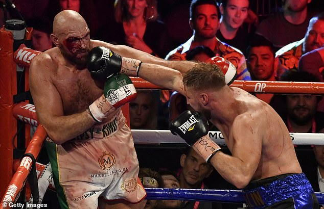 But he must first get past Otto Wallin (right) who caused Fury all sorts of problems back in 2019
