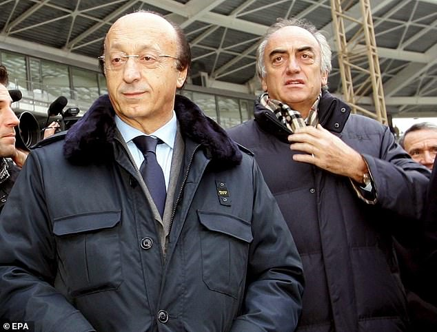 Moggi and fellow former Juve executive Antonio Giraudo (right) were found guilty of procuring favourable referees