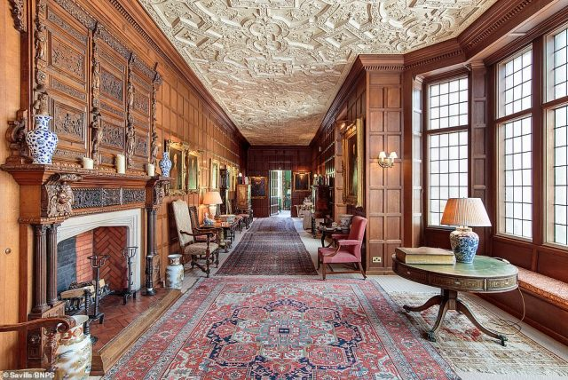 The property has more than 35,800 sq ft of accommodation with eight reception rooms, 16 bedrooms, ten bathrooms and original features throughout