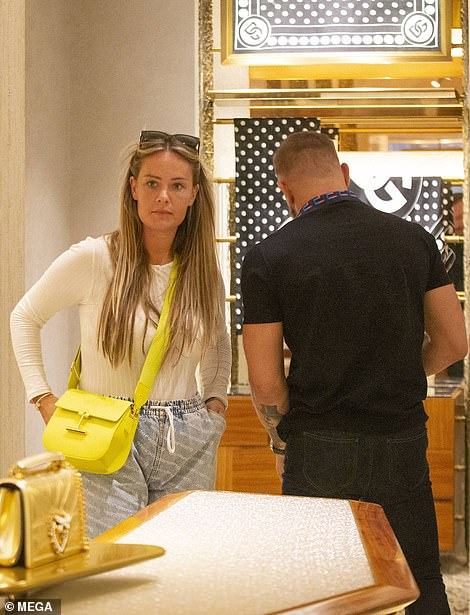 Stylish: Dee carried a designer bag with her as she headed into the store
