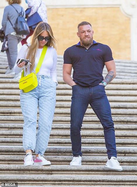 Out and about: The sportsman cut a casual figure in a dark blue polo and jeans