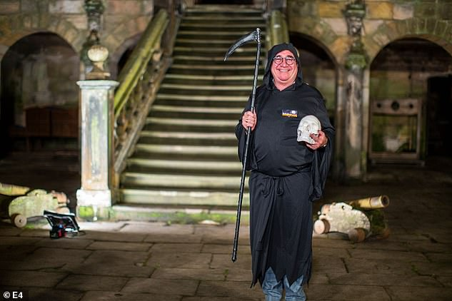 Scary: Coach driver Brendan Sheerin is returning to the show at various spooky locations across the UK to drive the vehicle across the country