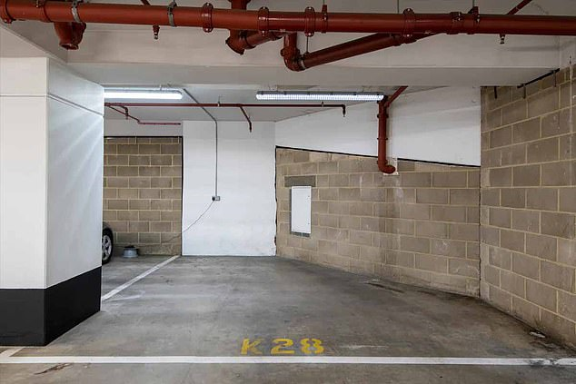 Sitting two levels underground at 8.2ft by 13.8ft, it is slightly shorter than the average parking space in the UK which is 7.8ft by 15.7ft