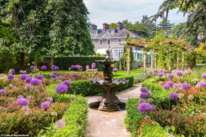 Colliers likens the property's manicured gardens to a 'haven for honeybees'