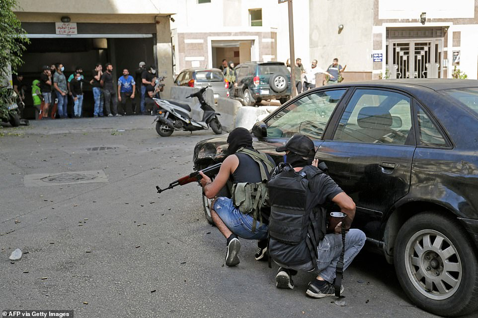 , Shooting erupts in Beirut during Hezbollah protest over probe into devastating chemical blast, The Today News USA