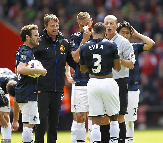 Evra and Vidic also had a falling out during their final season after a 3-0 defeat to Liverpool