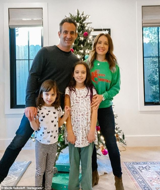 Baby makes five!  The daughter will be the third for Marla and her husband Alec Puro, who already share daughters Elliotte Anne Puro, nine, and Olive Mae Puro, six.