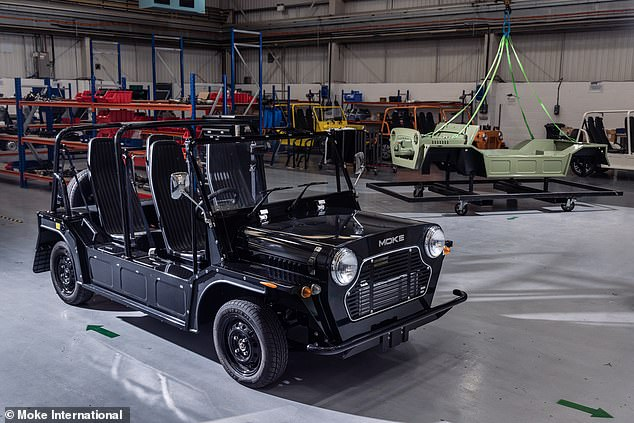 Like the combustion-engined Moke, the EV will be built at the brand's new facility in Northamptonshire with battery cells, motors and inverters all sourced from 'Tier 1 European suppliers'