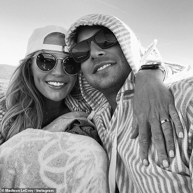 Happiness:The star didn't hesitate to say yes because he reportedly 'treats her better than any man before that,' a source told TMZ