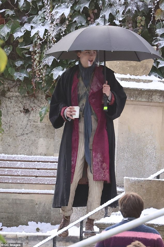 Film: Timothee Chalamet looked in character as he filmed scenes for Wonka in Bath on Thursday