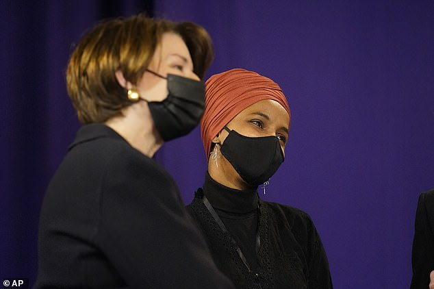Sen. Amy Klobuchar and Rep. Ilhan Omar, both Democrats from Minnesota, also attended