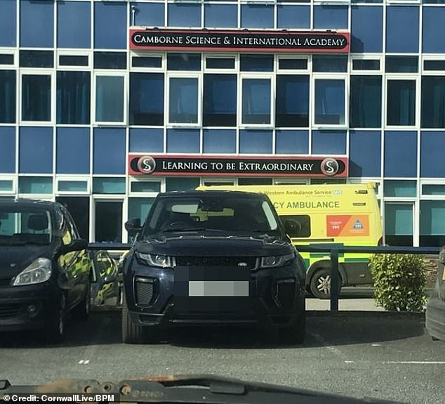 Camborne Science & International Academy in Camborne confirmed that the member of staff had tragically died on the premises