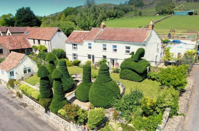 There are seven topiary trees in the front garden of the property, and schoolchildren in the local area have aptly named the home the 'Willy House'