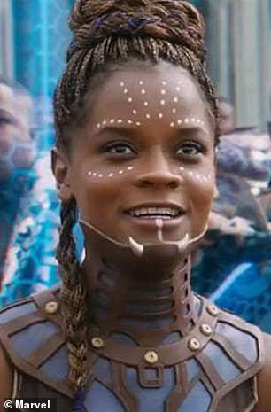 Wright is denying a report that she has continued to express anti-vaccine views while filming the sequel to the hit Marvel series - a year after she shared a video promoting a conspiracy theory
