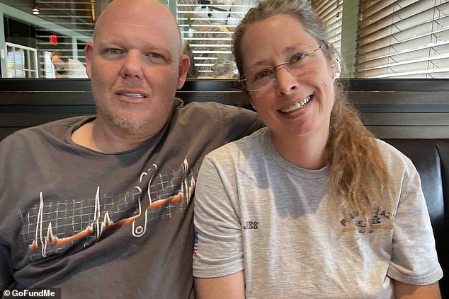 Scoot (left) and Jess Smith (right) are suing Loudon County under the provisions of Title X after their 15-year-old daughter was allegedly raped by a 'skirt-wearing male student' in a 'gender fluid' restroom atStone Bridge High School in Leesburg, Virginia on May 28