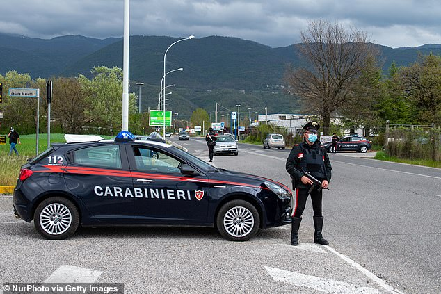 The 25-year-old from London, who has not been named, was freed from an apartment near Macerata in central Italy, detectives said last night (file photo)