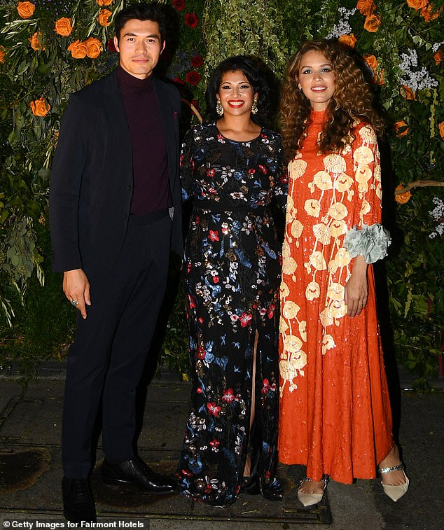 Trio:Henry stood for the photographers with Fairmont Hotels global vice president Mansi Vagt and Instagram poet Cleo Wade