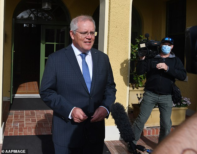 NSW's major announcement it would open up to the whole world from November 1 has sparked mass confusion. Scott Morrison is pictured outsideKirribilli House