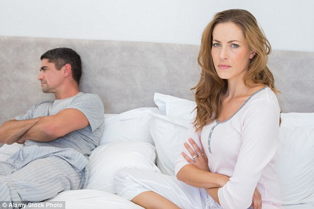 A miserable wife or gloomy husband won't just get you down – they could also make you ill (File photo)
