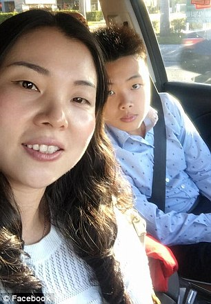 The boy's mother (pictured) and father speak little English and had to rely on a neighbor to translate for them while awaiting news last week after hearing about the shooting