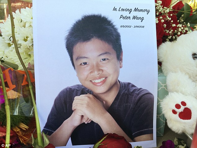 Peter was among 14 students killed. Three teachers also died in the shooting