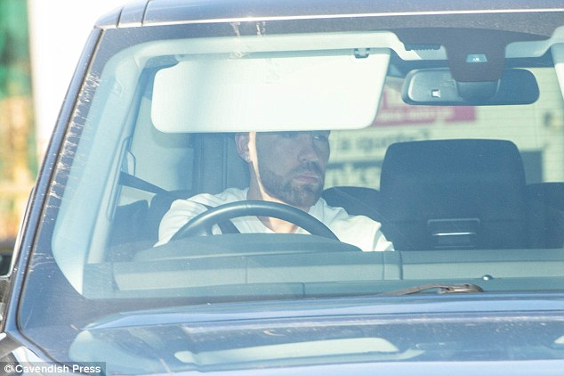 Nicolas Otamendi arrives at the training ground having not played a part at the DW Stadium