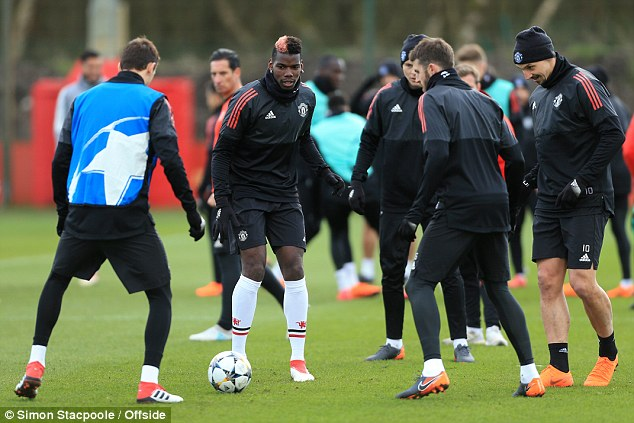 Pogba missed last weekend's FA Cup clash but returned to training just 24 hours later