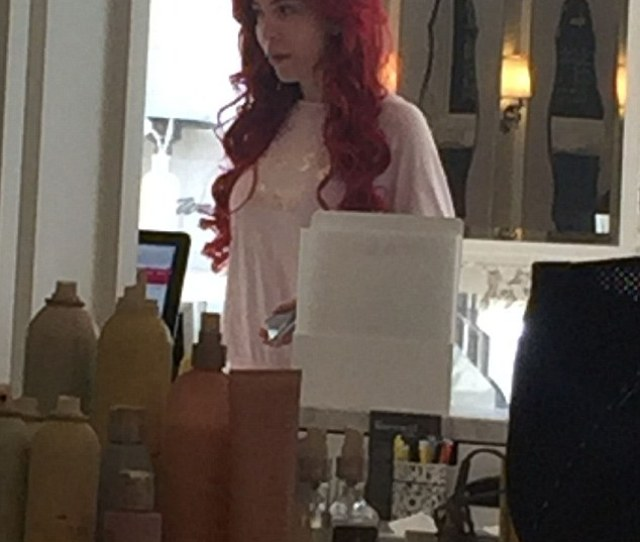 Taking Care Of Herself Abraham Had Her Hair Styled At Drybar In Beverly Hills On