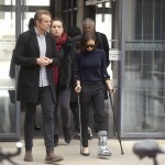 Victoria Beckham Spotted in Crutches in London