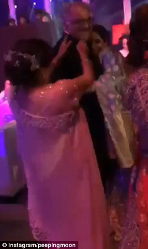 Sridevi and husband Boney Kapoor dance at a family wedding in Dubai
