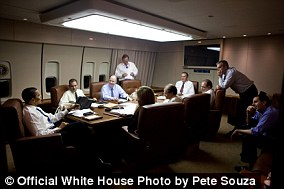 Travel in style: President Obama in the 747-200's conference / dining room