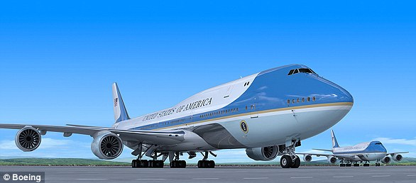 Artist's impression: Boeing says the new Air Force Ones, which will be based on its 747-8 series, could look like this