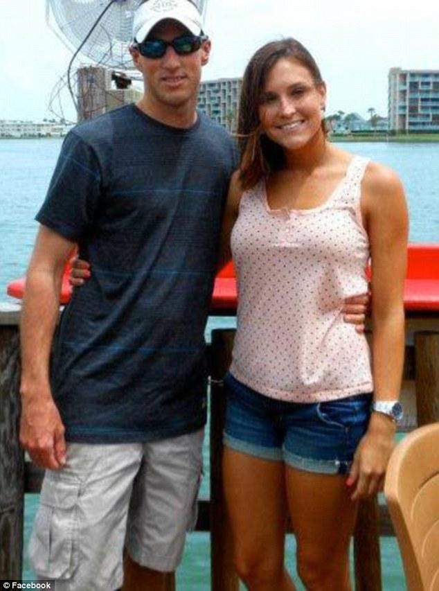 Ferri filed for divorce from her husband of two years, DeLand, Florida, firefighter Brandon Ferri (left)