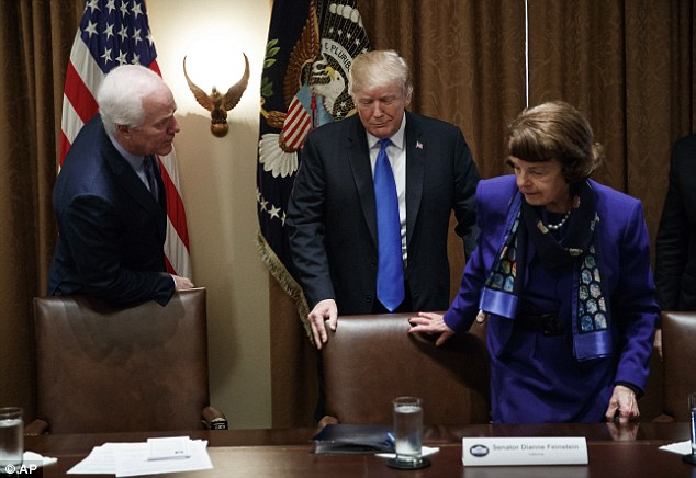 Wednesday was the first time that Trump heard from federal lawmakers leading the charge for new gun violence prevention measures in person since the Parkland massacre
