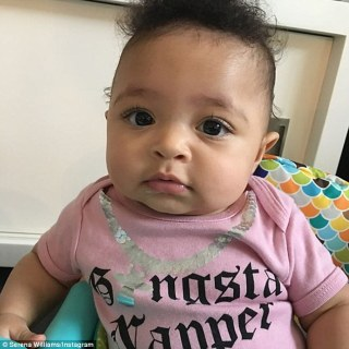 Serena Williams Shares adorable photos of Alexis to celebrate six month birthday