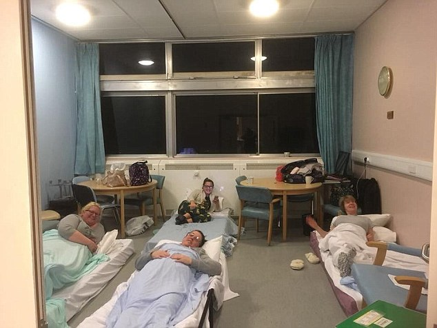Nurses at Nevill Hall hospital in in Abergavenny worked a 12-hour shift and then stayed overnight at the hospital - where they were not charged accommodation expenses - to look after victims of the big freeze