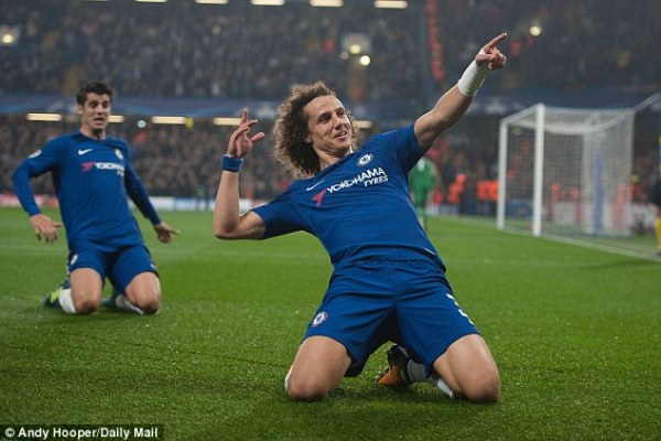 David Luiz will miss Chelsea games against Tottenham and ...