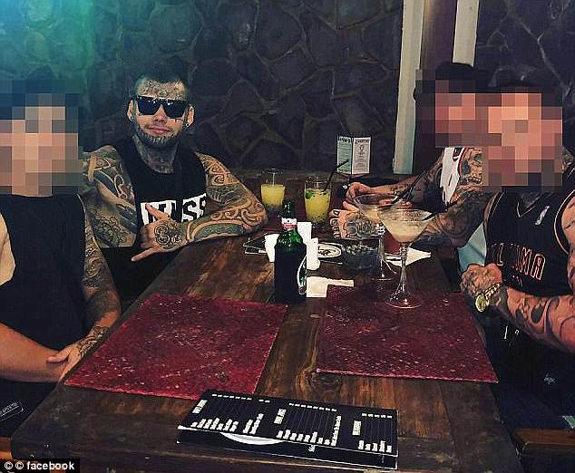 Months after Jesse Johnston (pictured) was deported back to New Zealand, the Newcastle Finks chapter took another hit when president Andrew Russell Manners was jailed in February