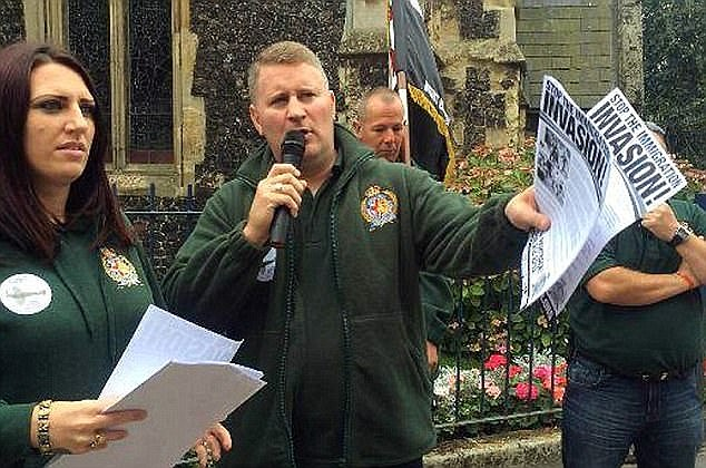 Fransen and Golding, pictured at a rally in Ramsgate, Kent, have now both beenfound guilty of religiously aggravated harassment