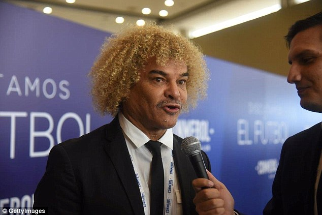 Colombia iconCarlos Valderrama vowed to shave off his hair if his nation win the World Cup
