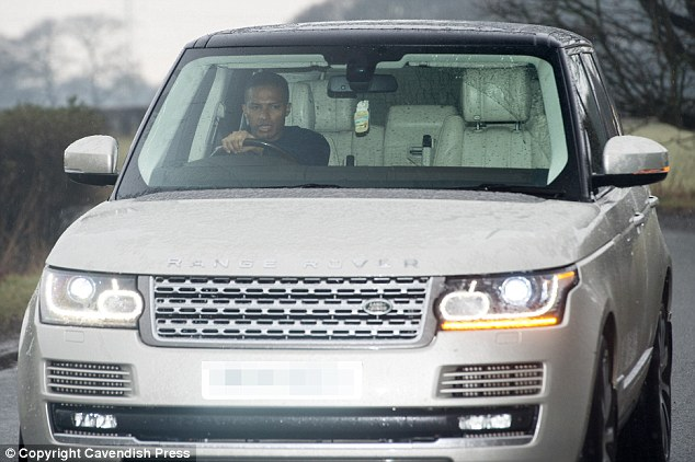 Antonio Valencia was ready for the training session as he manoeuvred his Range Rover