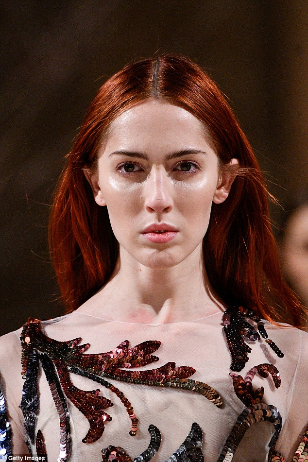 Wow: The stunning model first came out to some people at her agency, who were surprised