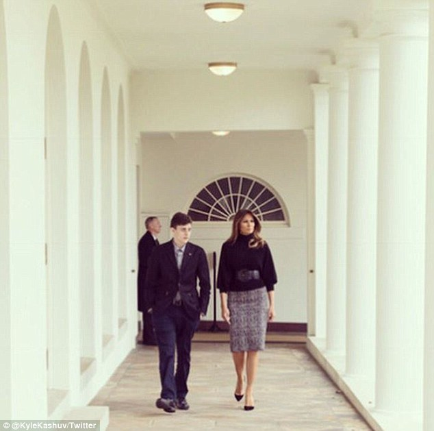 Melania posted a short video on social media of her meeting with Kyle at the White House