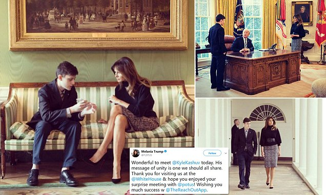 Melania Trump meets Florida shooting survivor at the White House