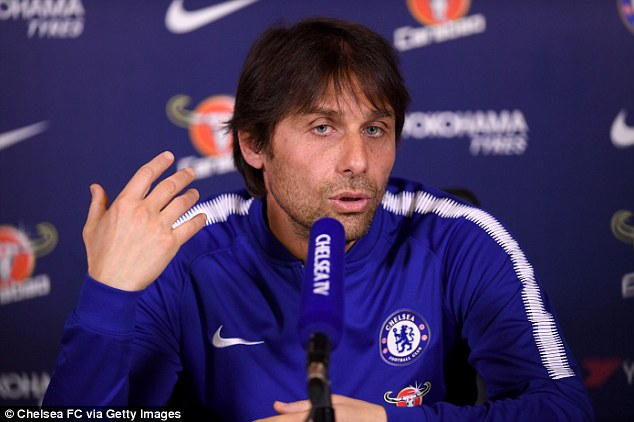 'I did this when I was a player,' said Conte before explaining that it did not work out well for him