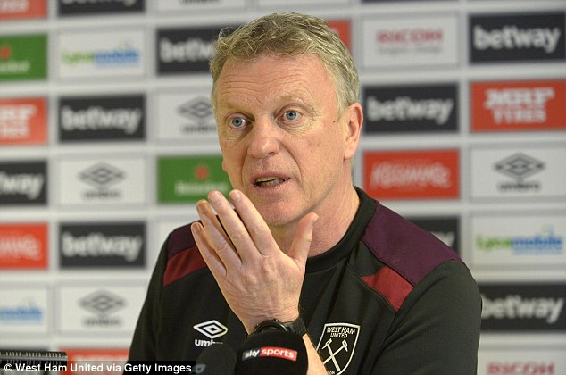 Amid discontent among West Ham fans, Moyes added: 'We need everybody to be together'
