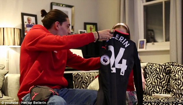 The full back fulfilled Claudia's request with a signed jersey - and had one for her brother too
