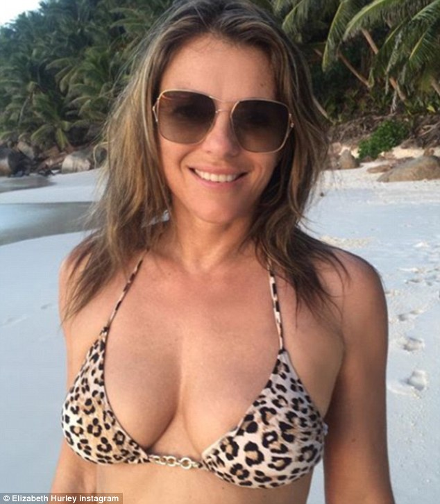 Elizabeth Hurley Defends Son Damien For Taking Her Bikini