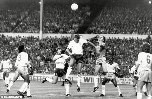 Butcher in action during one of his 77 England matches - a Wembley friendly against Brazil