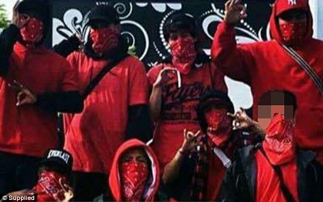 Residents have been living in fear after wannabe gang members have been reportedly causing havoc (pictured are local youths dressed in red clothing)